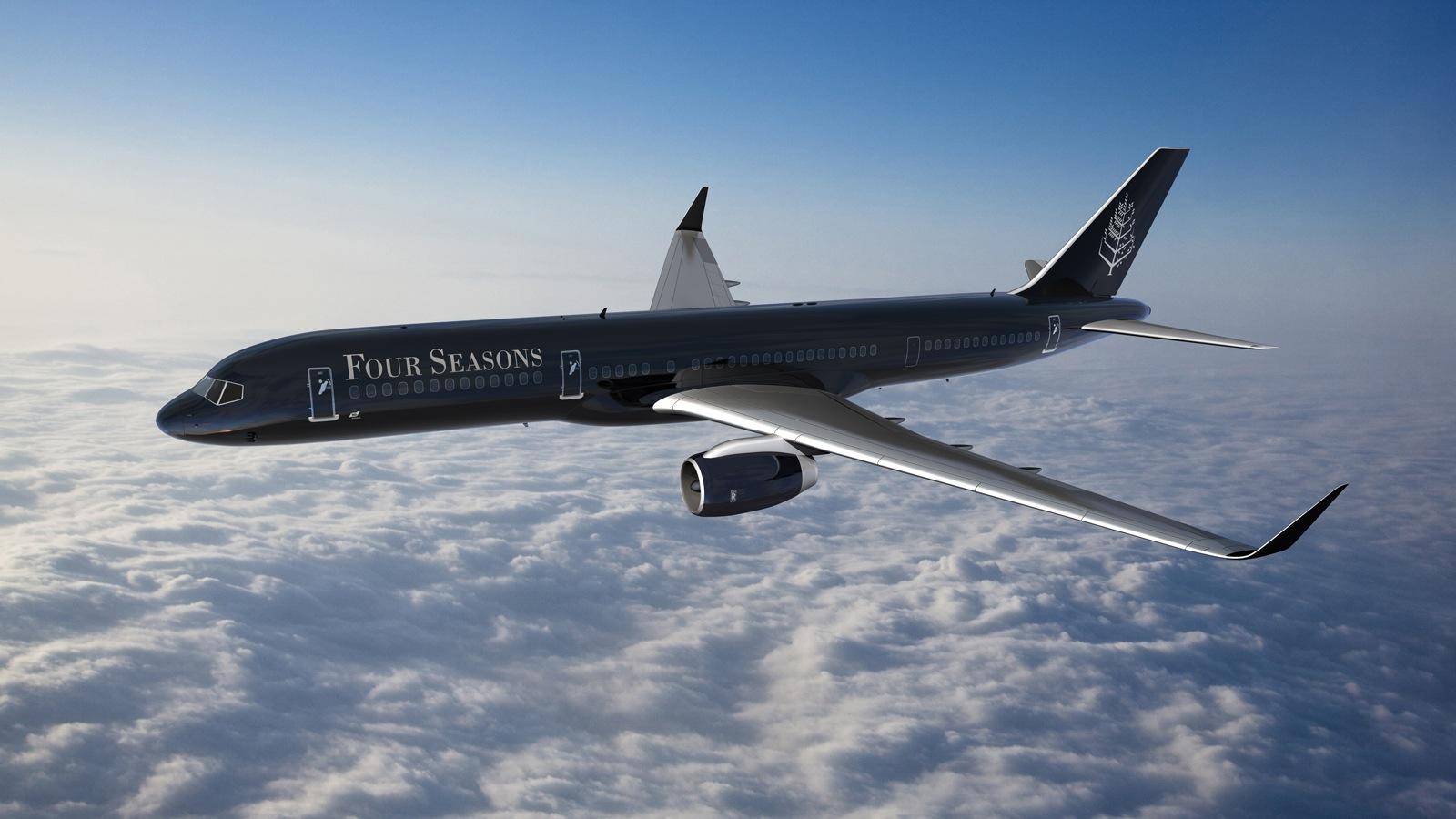 Pesawat Boeing 757 yang digunakan sebagai jet pribadi milik Four Seasons Hotels and Resorts.