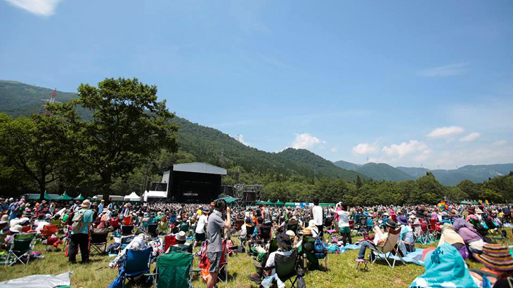 Suasana di Fuji Rock Festival.