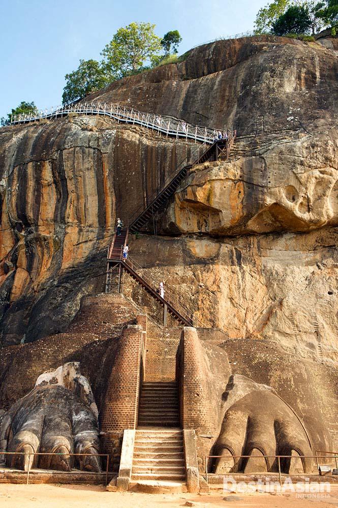 Sigiriya, bangunan bersejarah yang dibangun dari batu. (Foto: Getty Images)