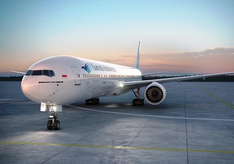 Penerbangan Jakarta-London via Amsterdam dilayani menggunakan armada B777-300ER.