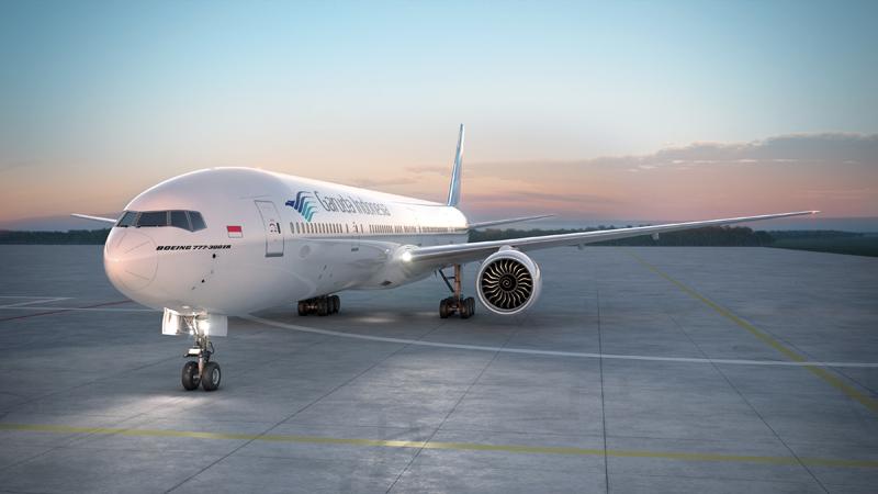 Armada B777 yang akan digunakan untuk melayani penerbangan nonstop Jakarta-Amsterdam.