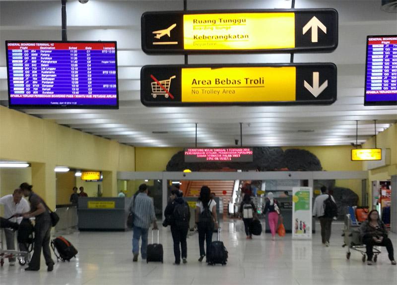 Jalur pemeriksaan khusus Garuda Indonesia ini bisa diakses tanpa antre.