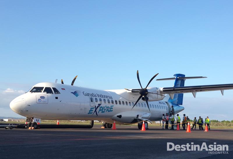 Armada ATR 72-600 yang juga melayani rute-rute pendek di Indonesia Timur.