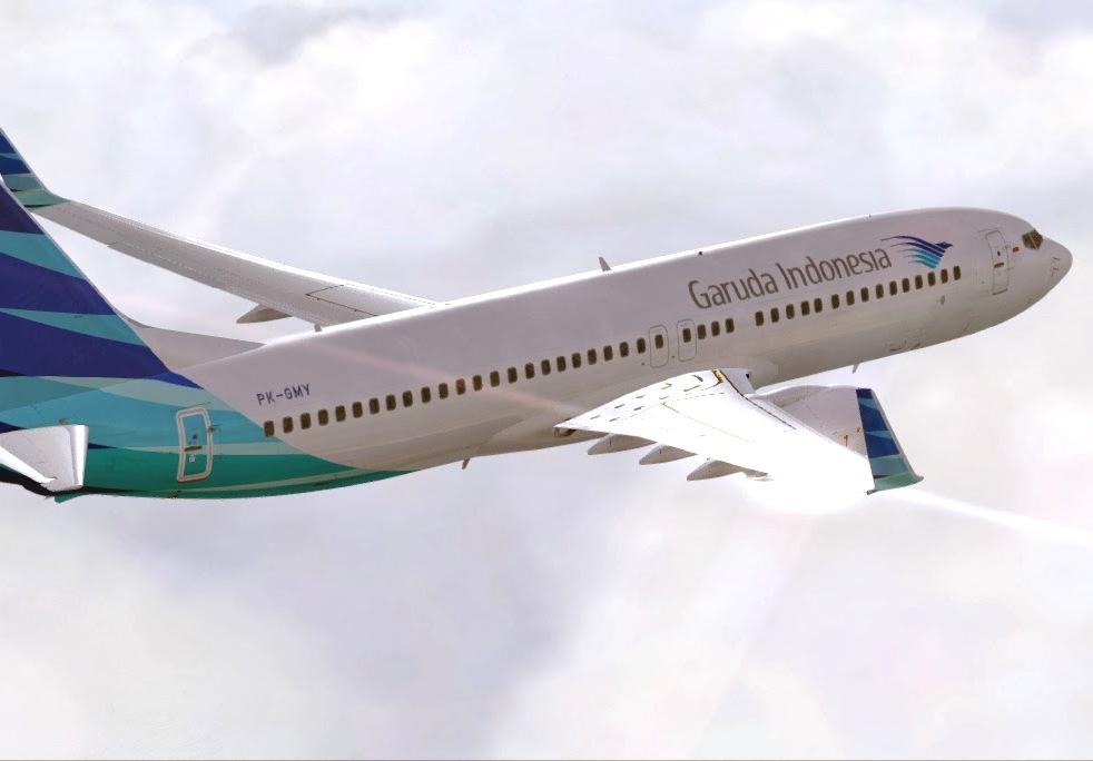 Rute Denpasar-Manado dioperasikan menggunakan armada Boeing 737-800.