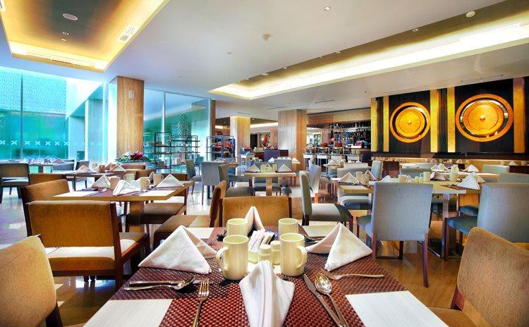 Interior Saffron Restaurant.