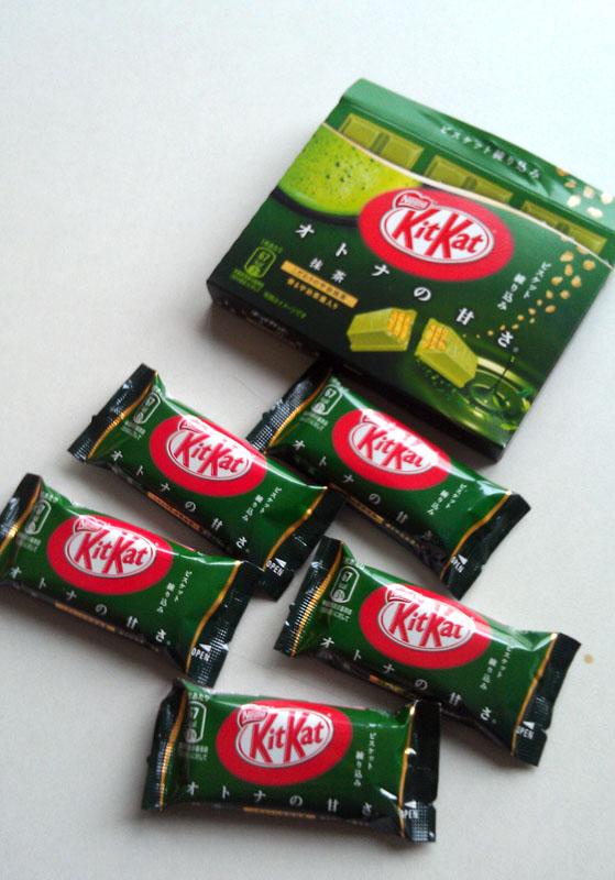 KitKat Green Tea yang hanya diproduksi di Jepang.