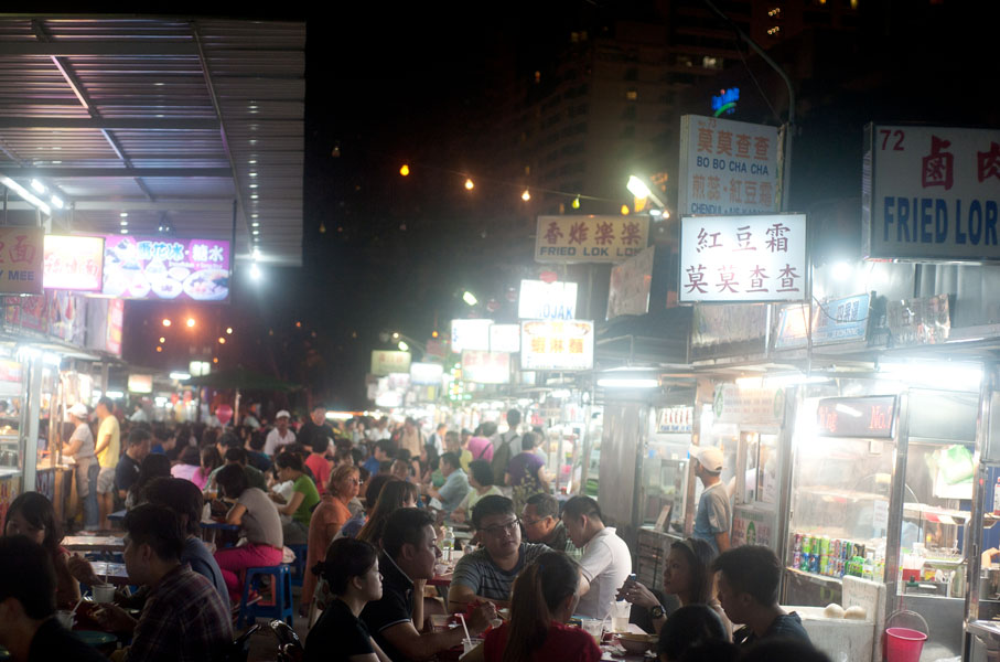 Gurney Drive Hawker Center, pujasera paling ramai di Penang.