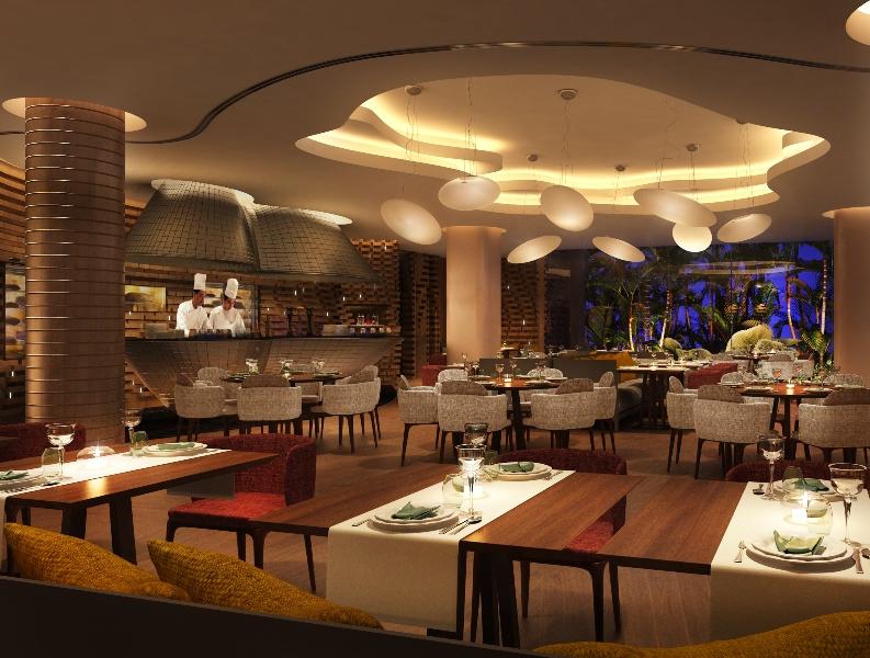 Cafe Grill, salah satu restoran di Hilton Singapura.