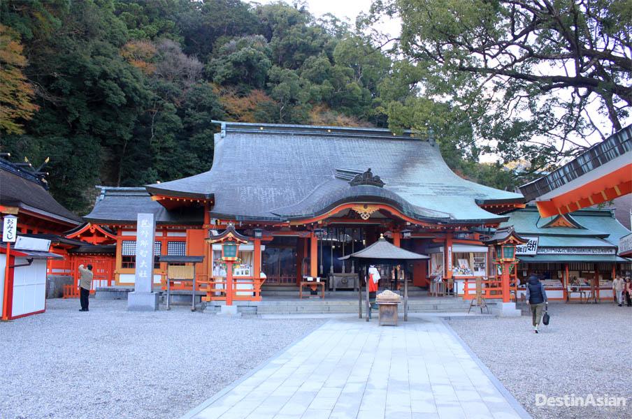Salah satu kuil yang berada di jalur Kumano Kodo di Wakayama.