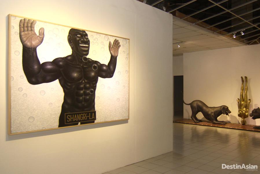 Lukisan 'Shangri-La' karya Nyoman Masriadi yang kabarnya terjual Rp4,5 miliar.