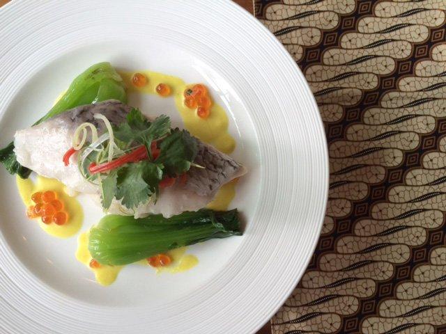 Salah satu hidangan kreasi koki Gilles Marx yang meramaikan menu kelas bisnis Garuda Indonesia.