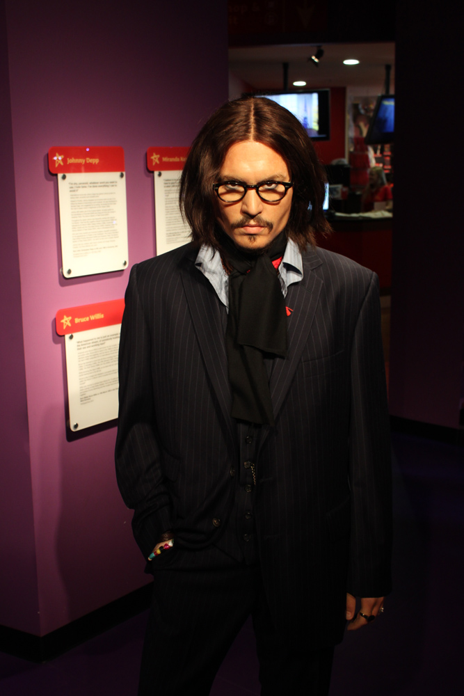 Patung aktor Hollywood, Johnny Depp, di Madame Tussauds.