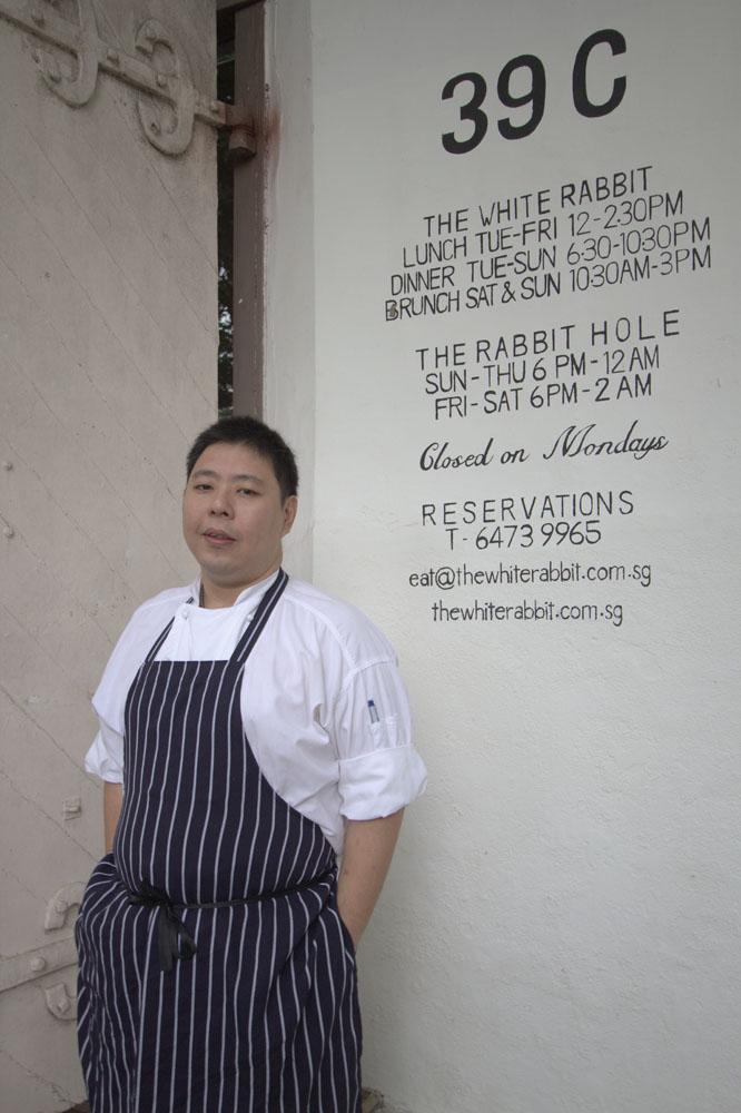 Benjamin Tan, komandan di dapur The White Rabbit.