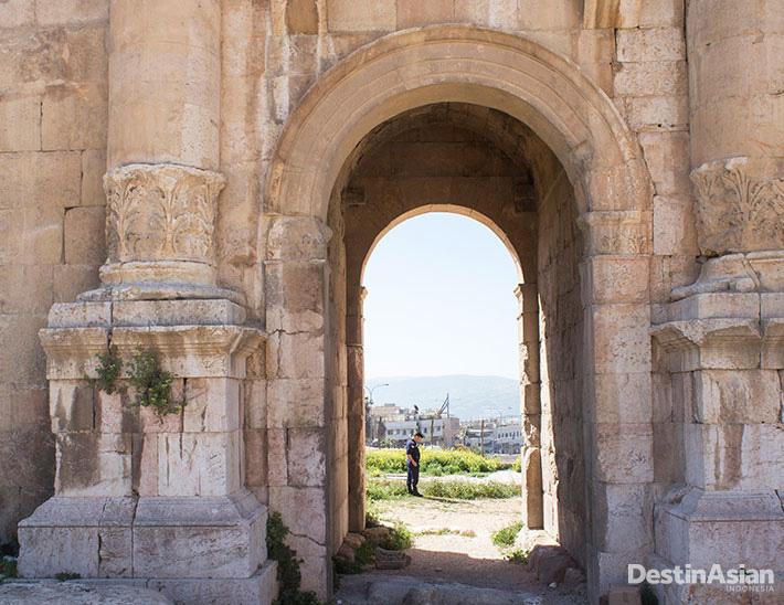 Salah satu sudut Jerash, kota tua yang berumur lebih 6.500 tahun.