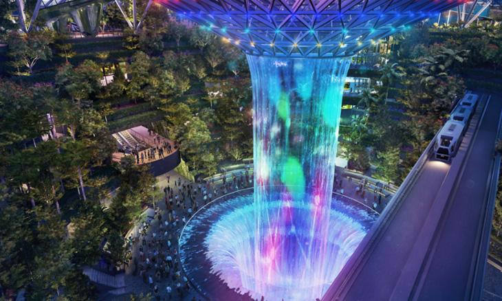 Jewel Changi Waterfall