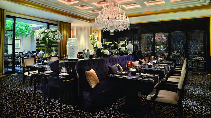 Interior Joel Robuchon Restaurant.