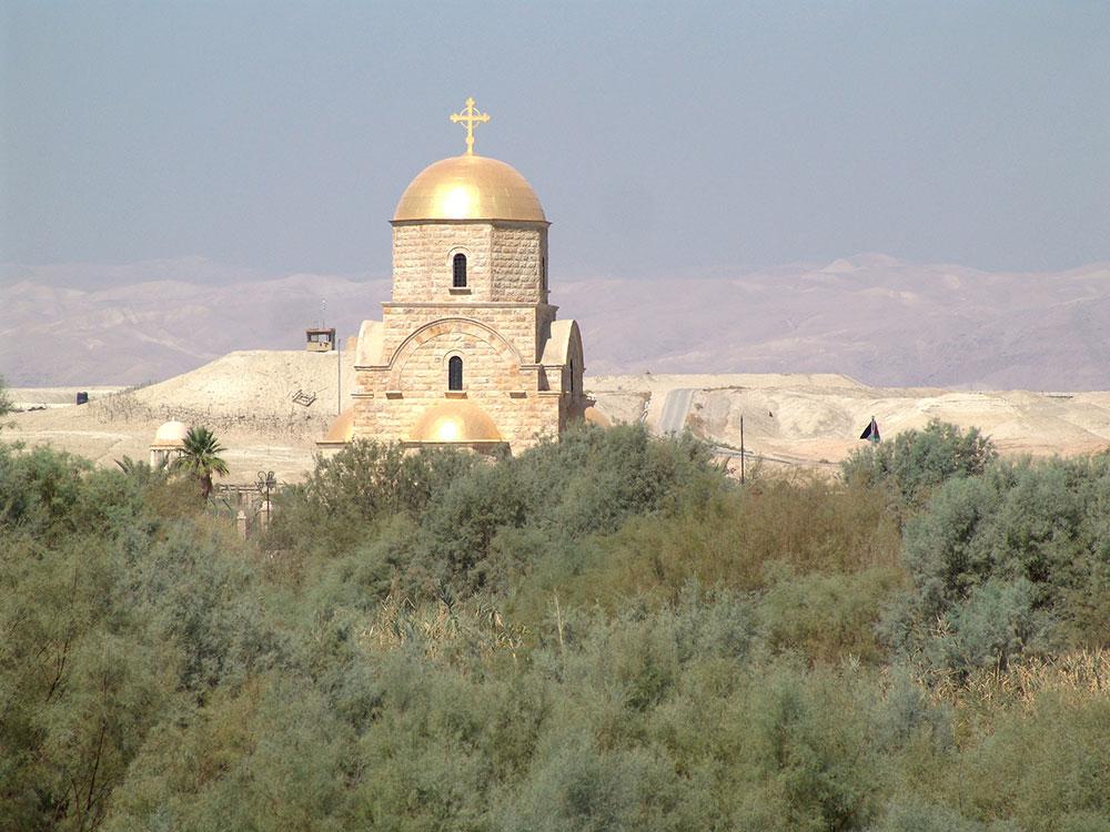 Gereja John Paul II yang terletak di Jordan Valley.