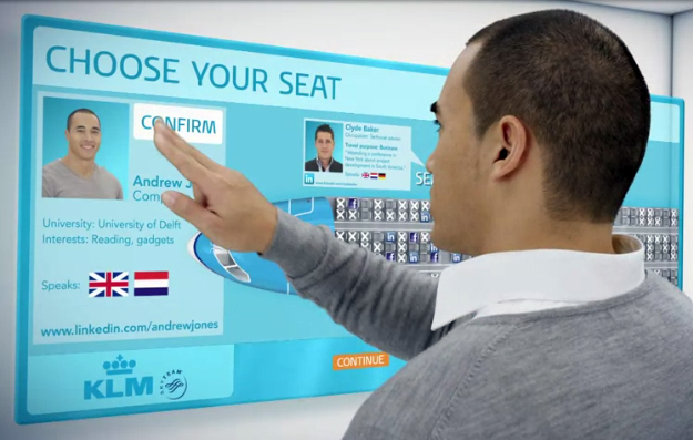 Fitur KLM Meet and Seat.