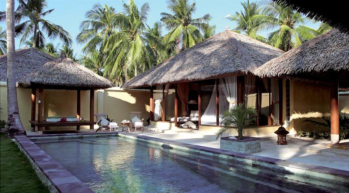 Akomodasi tipe Pool Villa di Kura Kura Resort yang dilengkapi kolam renang pribadi. (Foto: Kura Kura Resort)