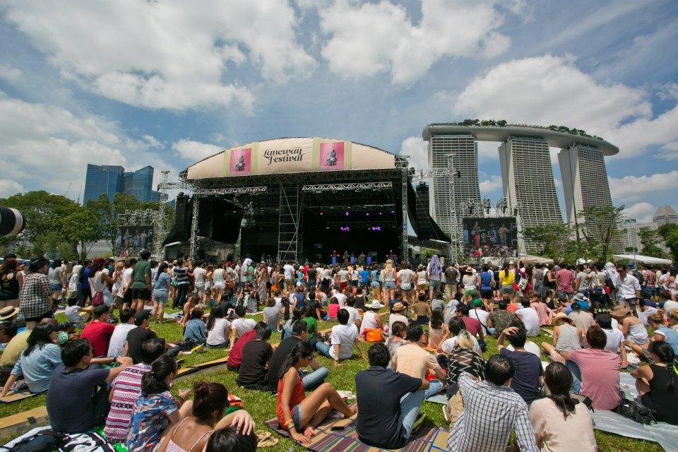 Suasanan di Laneway Festival Singapura tahun 2013. Foto: Aloysius Lim/Chugg Entertainment.