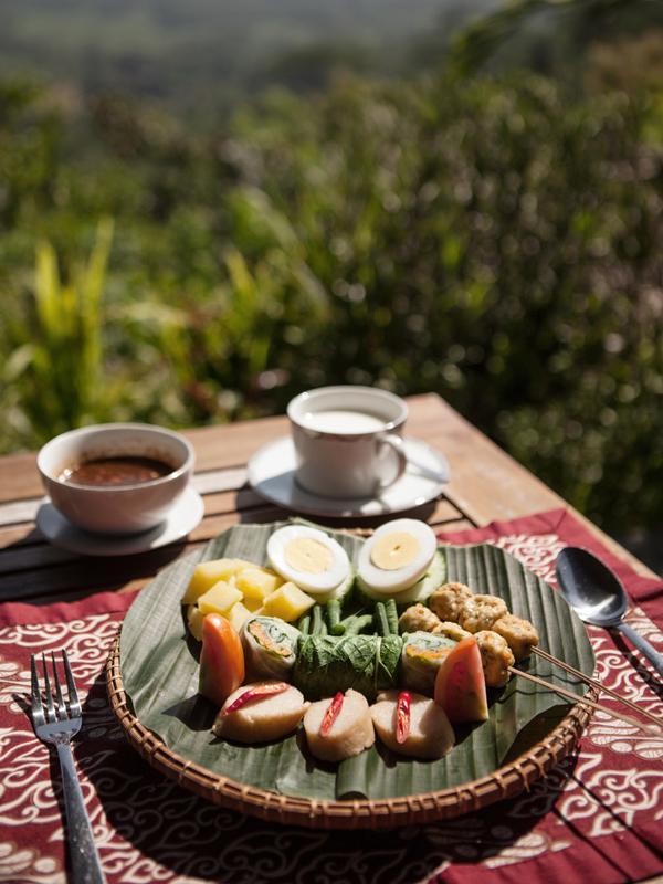 Gado-gado, makanan tradisional Indonesia dengan penyajian apik dari Villa Borobudur. (Foto: Muhammad Fadli)
