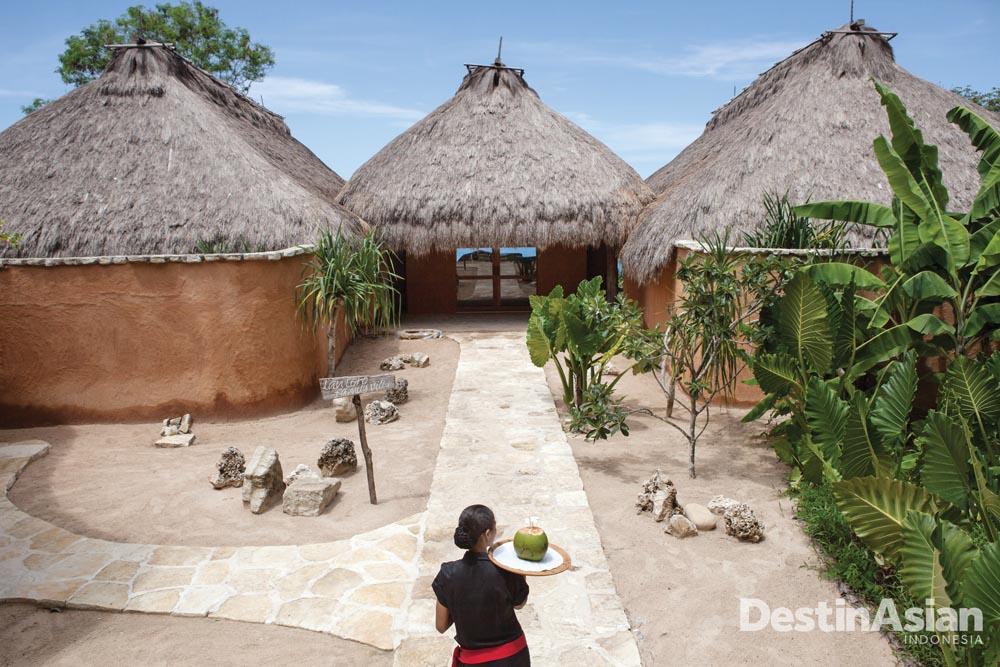 Desain vila Nihiwatu.