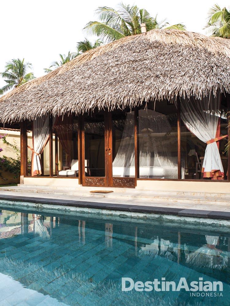 Akomodasi tipe Family Pool Villa di Kura Kura Resort.