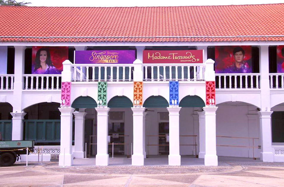 Fasad Madame Tussauds Singapura.