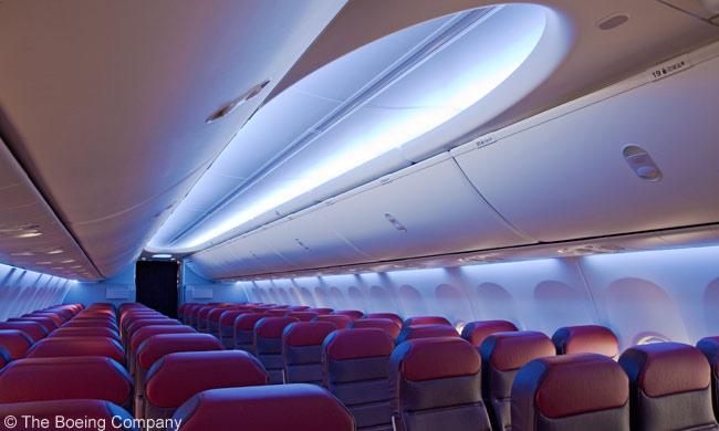 Interior Boeing 737-800 milik Malaysia Airlines.