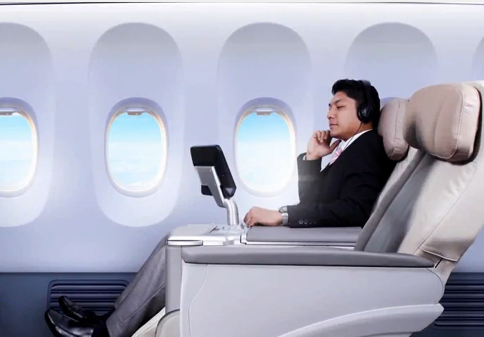 Tersedia kabin kelas bisnis dalam rute baru ini.