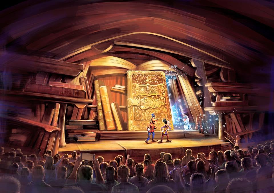 Konsep untuk pertunjukan 'Mickey and the Wondrous Book.'