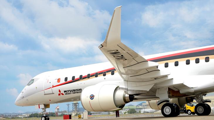 Pesawat MRJ yang bakal jadi andalan Jepang.