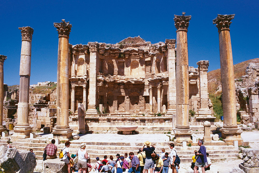 Salah satu sudut kota historis Jerash.