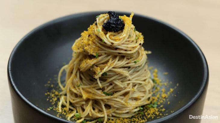 Salah satu menu pasta ala Jepang yang disajikan.
