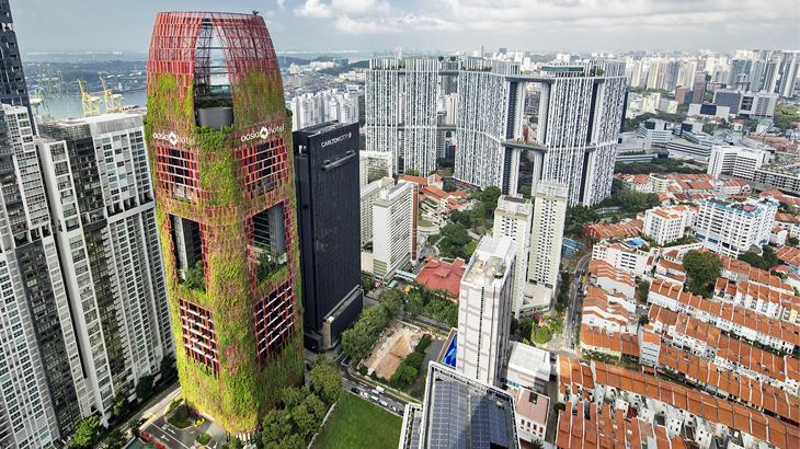 hotel singapura, oasia downtown