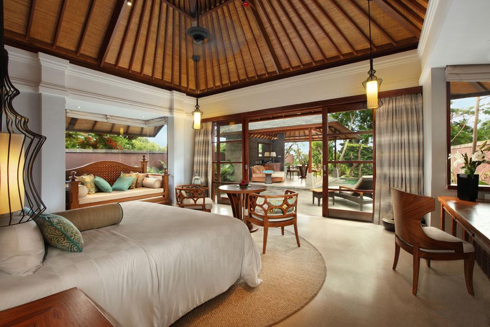 Kamar tidur di One Bedroom Villa.