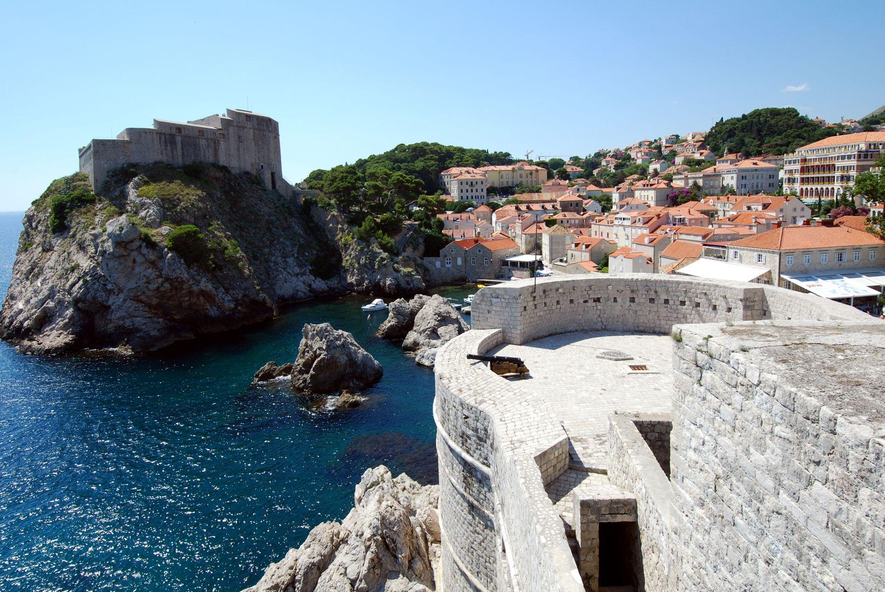 Walls of Dubrovnik, landmark terkenal di Dubrovnik, Kroasia.