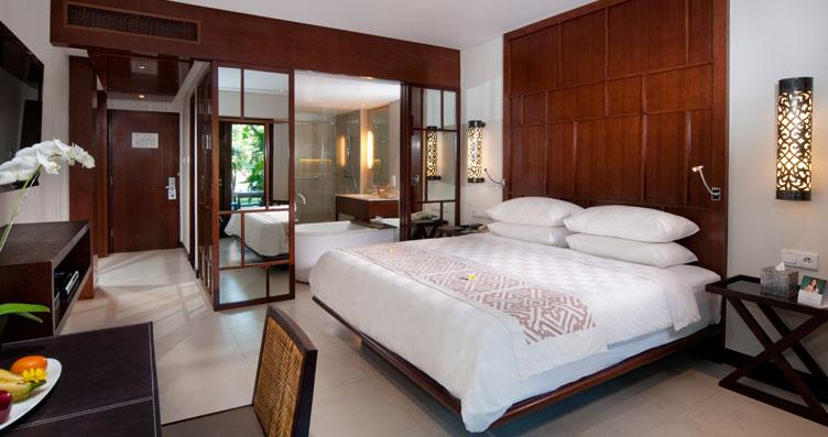 Kamar bergaya modern nan elegan.