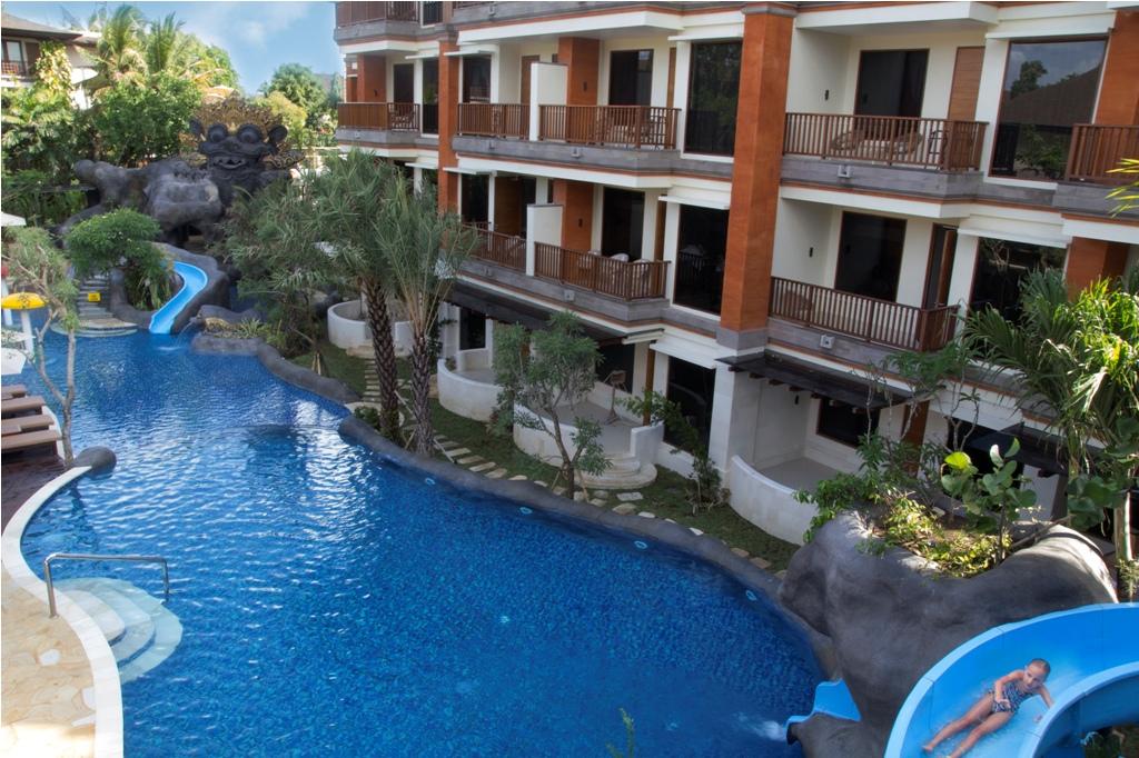 Family Block, kompleks baru di Padma Bali Resort at Legian dengan kolam laguna lengkap dengan tiga seluncur air.