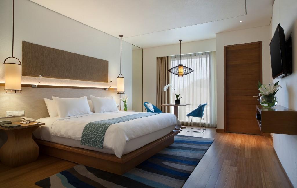 Kamar tidur utama dengan matras lebar dan nyaman.
