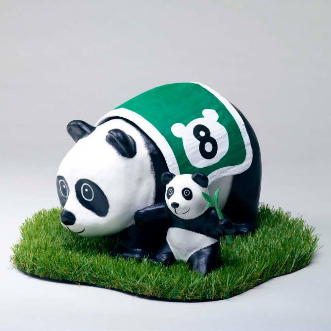 Salah satu patung panda yang akan dipajang di tur bikinan PMQ.