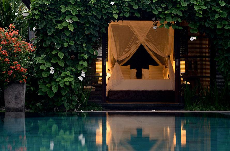 Vila dengan kolam renang privat.