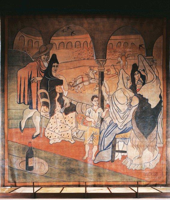 Lukisan 'Le Tricorne' yang diklaim sebagai karyanya yang berukuran paling besar.