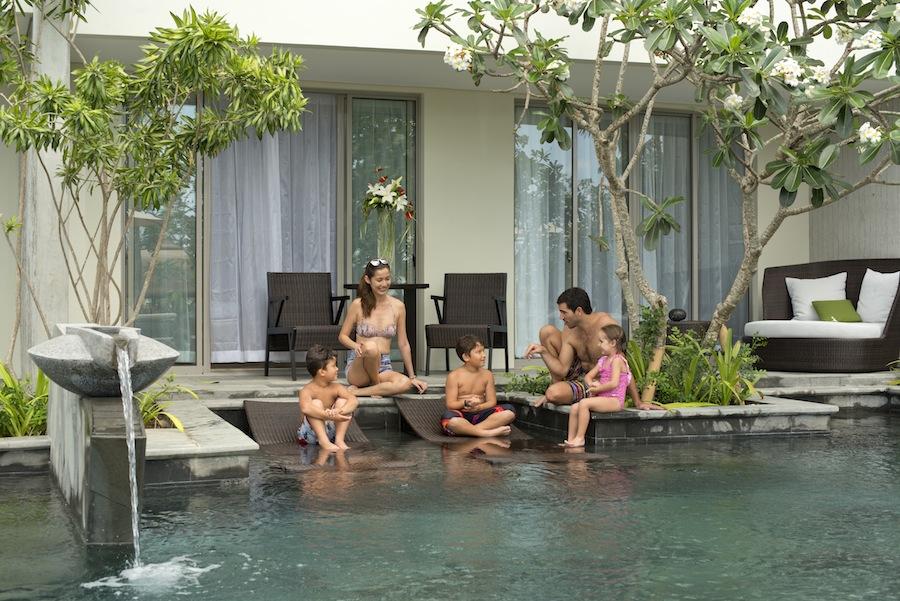 Kamar pool access di Rimba Jimbaran Bali.