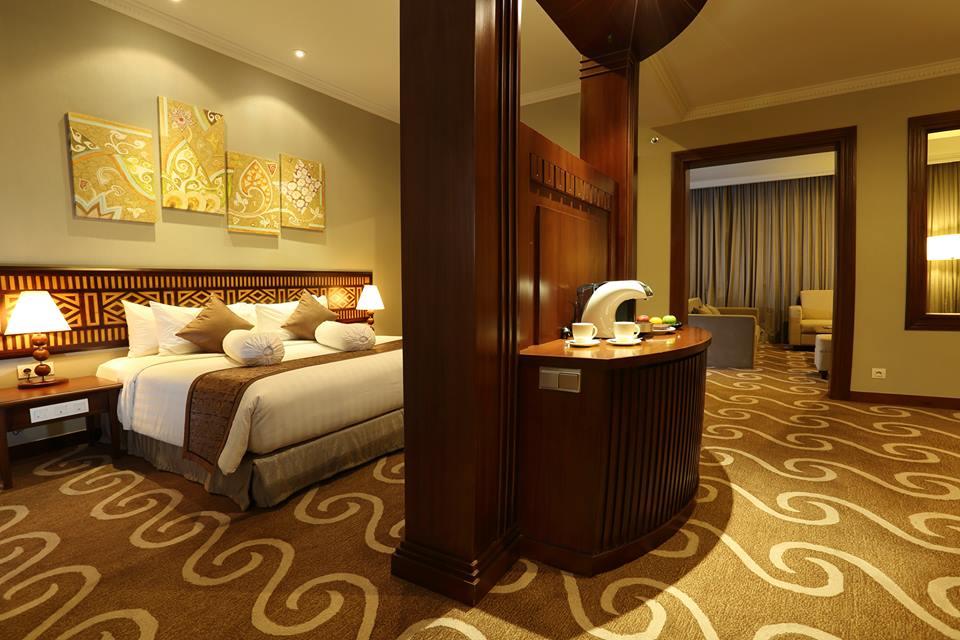 Kamar Prama Grand Preanger Bandung yang telah direnovasi.