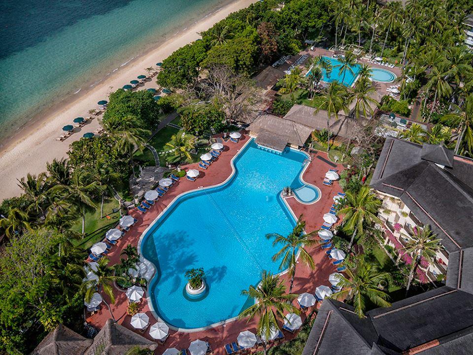 Prama Sanur Beach, salah satu hotel tertua di kawasan Sanur.