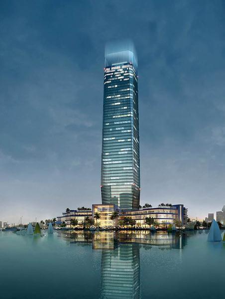 Gedung Hotel Kempinski Yixing menjadi salah satu yang tertinggi di kota tersebut.