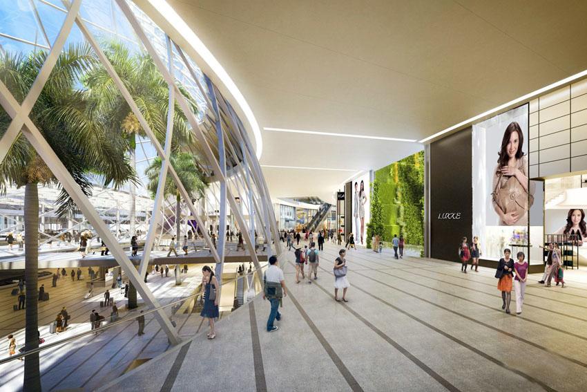 Kompleks Project Jewel akan dilengkapi dengan toko-toko merek dunia.