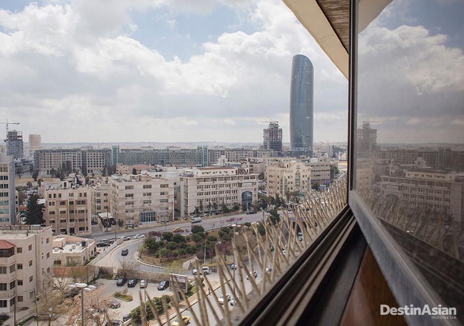 Pusat kota Amman yang modern.