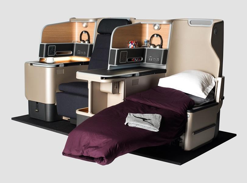 Dengan kursi kelas bisnis baru ini, penumpang tetap bisa dalam posisi santai ketika lepas landas maupun mendarat.